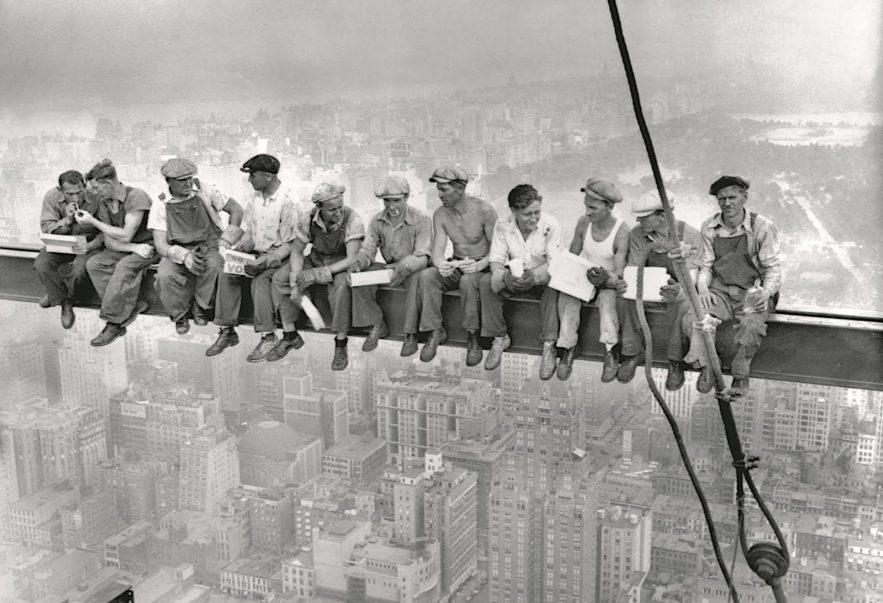lunch atop a skyscraper photo culte rockefeller cente