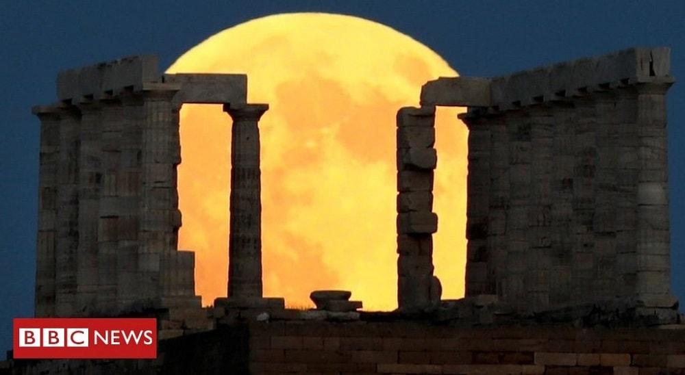 lune eclipse lunaire grece