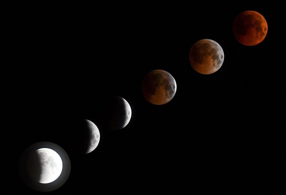 eclipse lunaire timelapse