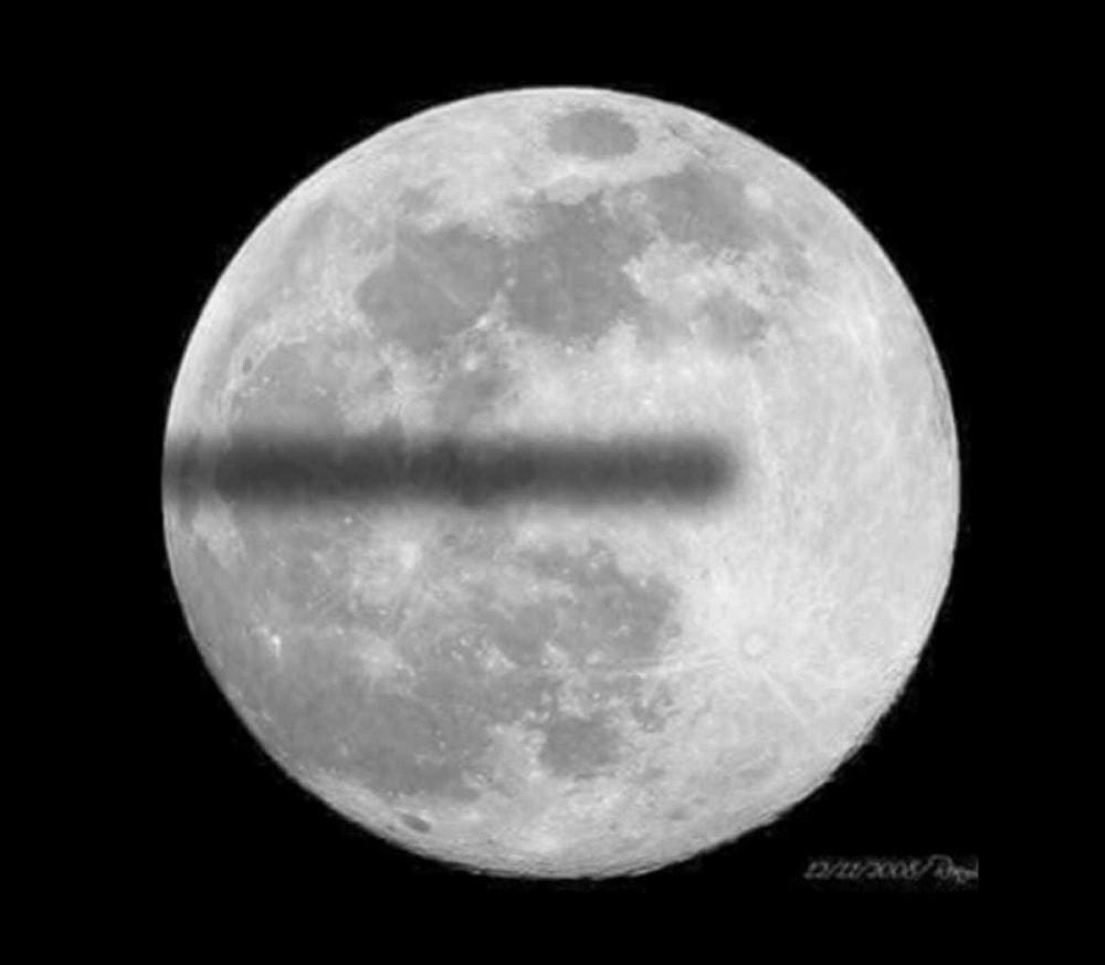 lune terre plate