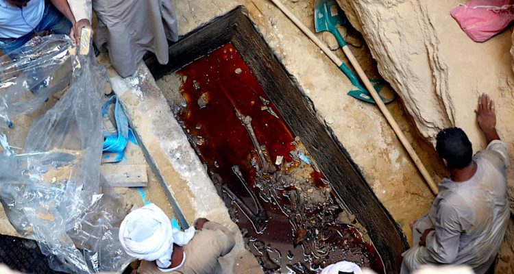sarcophage geant egypte noir