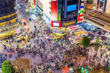 shibuya tokyo japon crosswalk