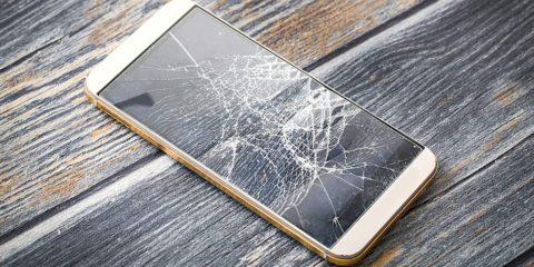 smartphone ecran casse