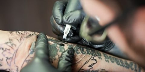 tatouage permanent encre