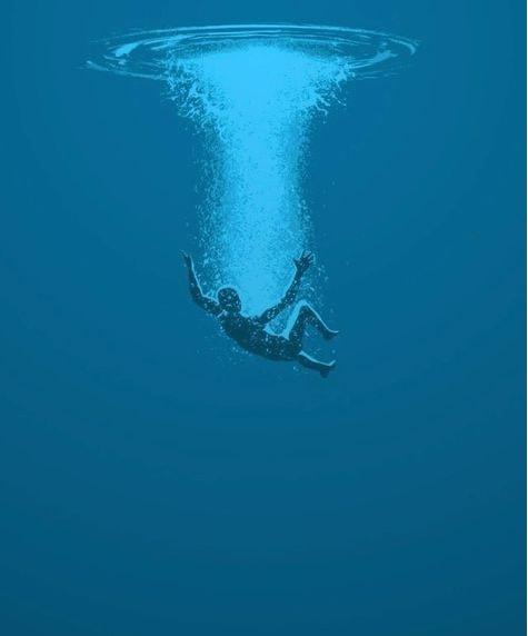 chute libre surface eau
