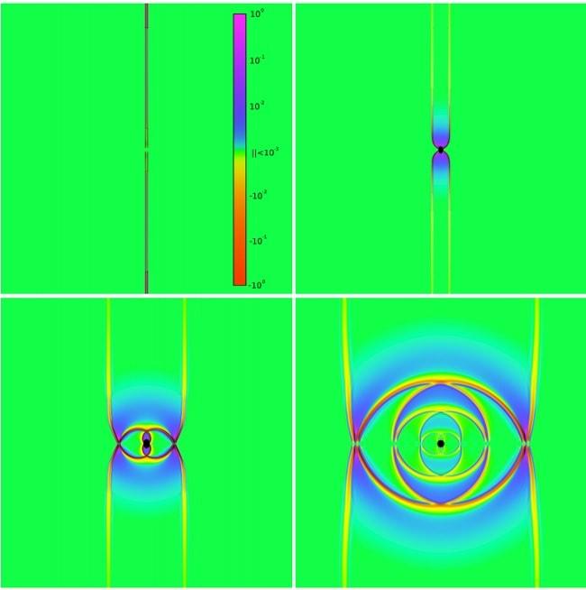 collision ondes gravitationnelles simulation