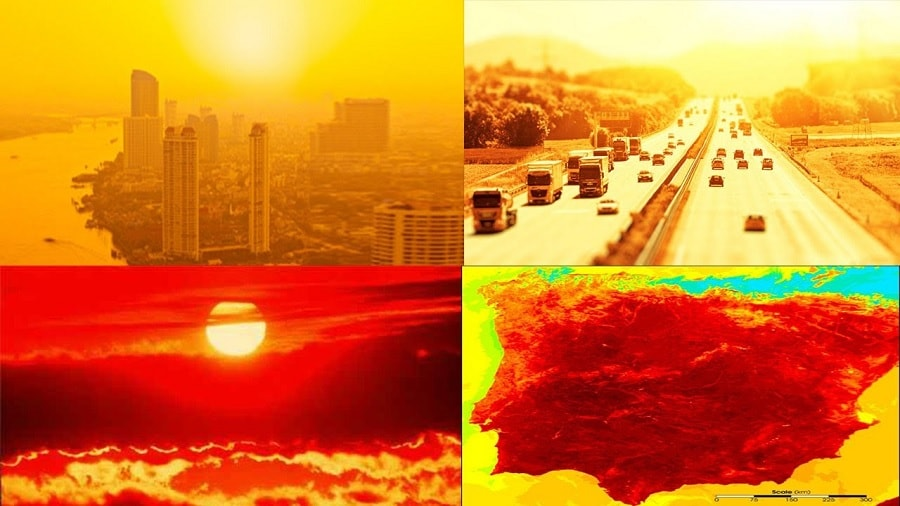 vagues chaleur rechauffement climatique