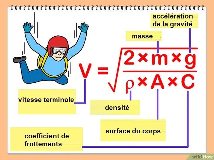 calcul vitesse terminale corps