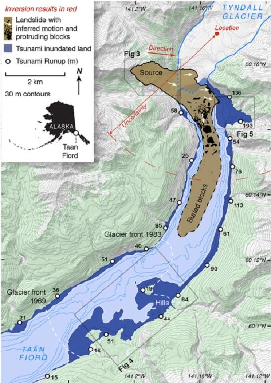 glissement terrain eau fjord