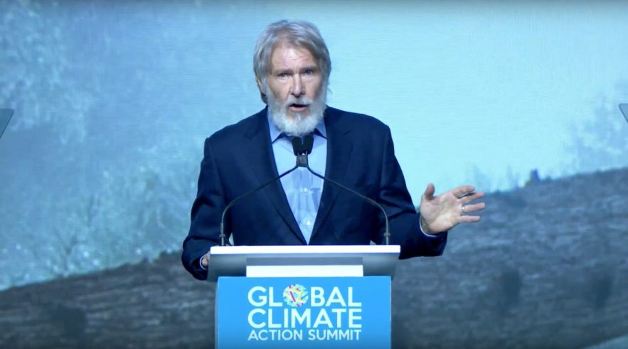 harrison ford global climate discours