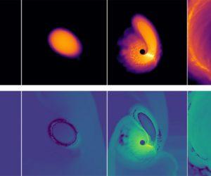 simulation trou noir etoile naine blanche marres forces