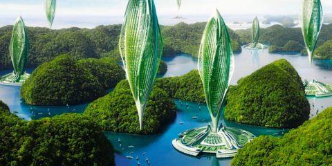 ville futuriste hydrogenase energie