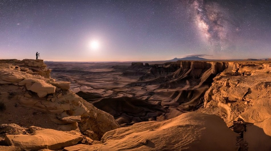 astronomie cliche canyon utah astronomie voie lactee lune