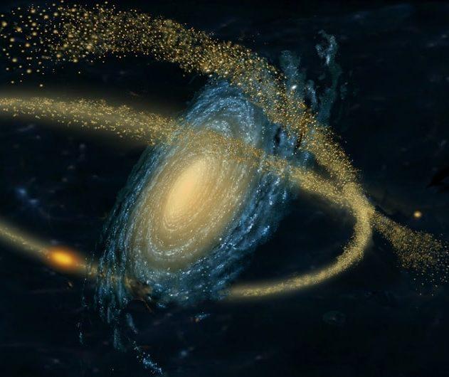 histoire galaxie flux stellaires