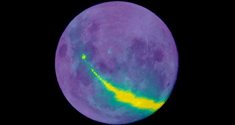 lune reflexion radio galaxie