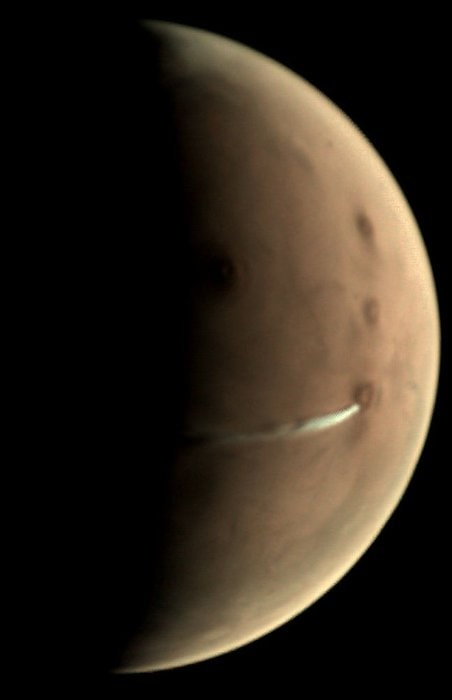 nuage orographique volcan mars