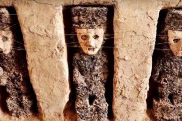 statue argile figurines gardien perou