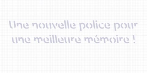 police ecriture favoriser memoire retention information cerveau