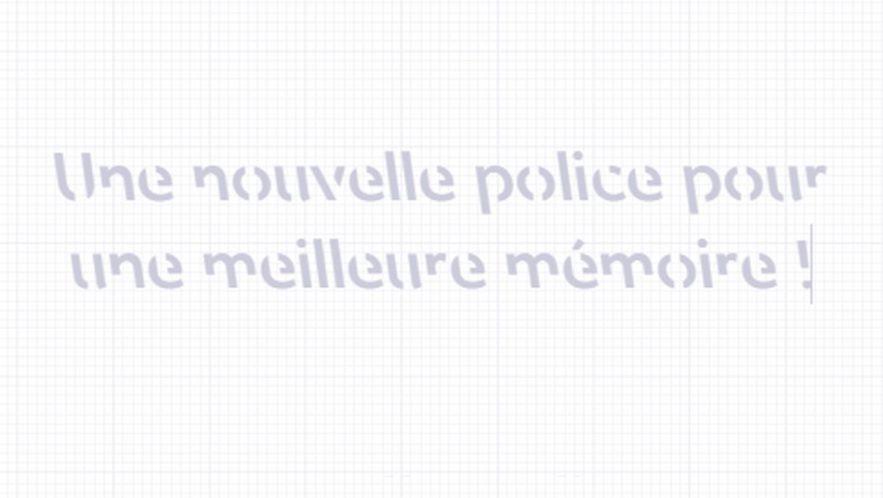 police ecriture favoriser memoire retention information cerveau