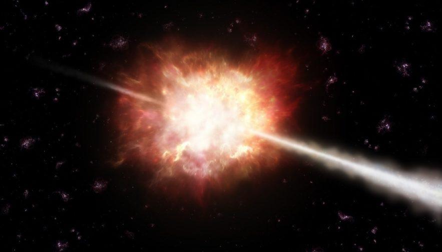 sursaut gamma terre