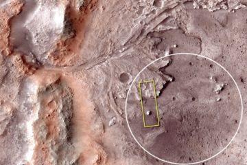 cratere jezero mars mission nasa eau 2020 rover