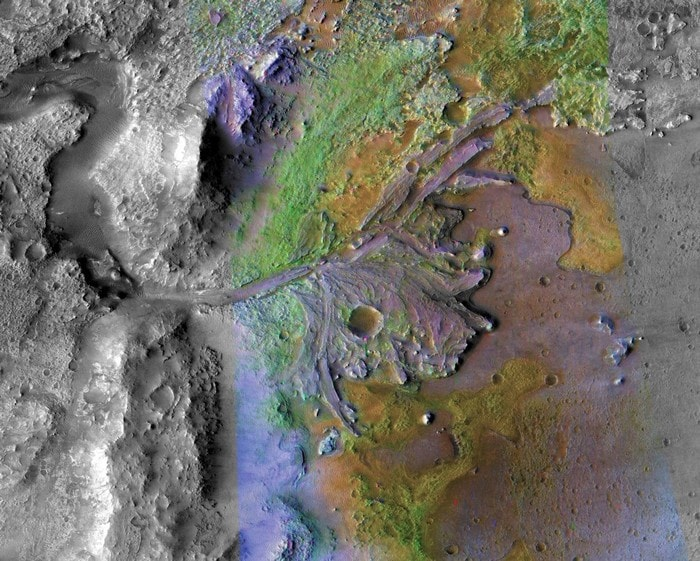 cratere jezero cratere lac mars vie exploration rover nasa 2020