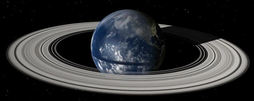 debris lune anneau terre