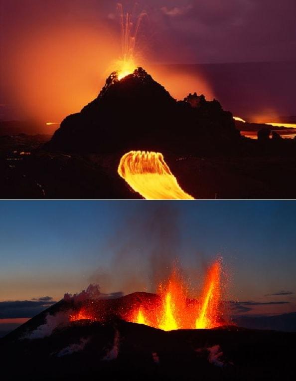 eruptions volcaniques volcans