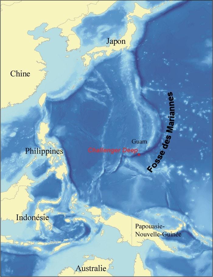 fosse mariannes eau plaque tectonique sismique