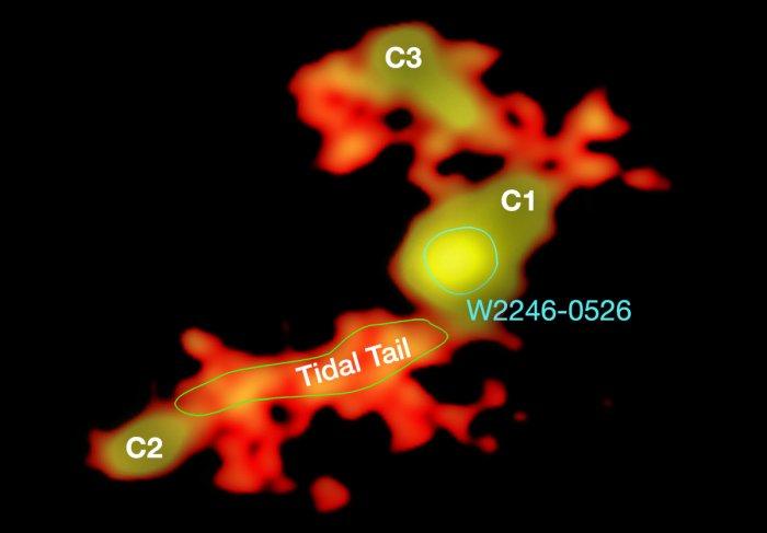 trou noir supermassif galaxie lumineuse