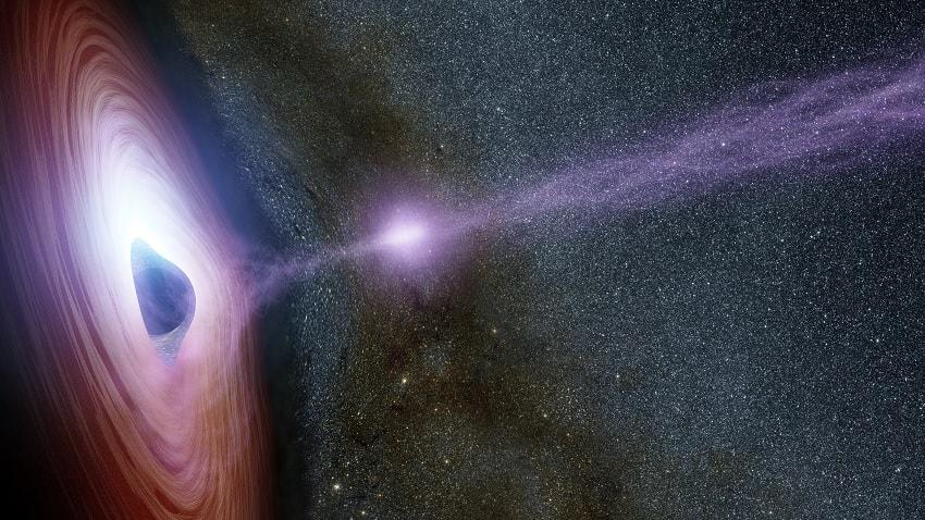 emissions électromagnetiques trou noir