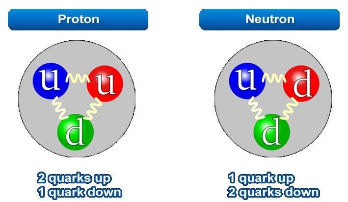 modele quarks proton neutron
