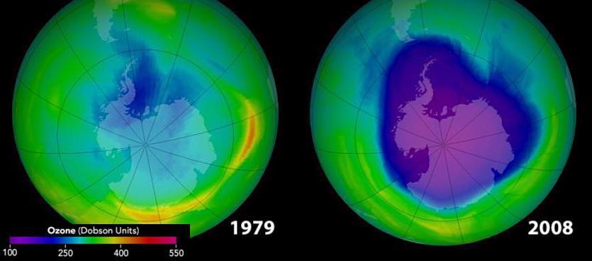 ozone evolution 1979 2008