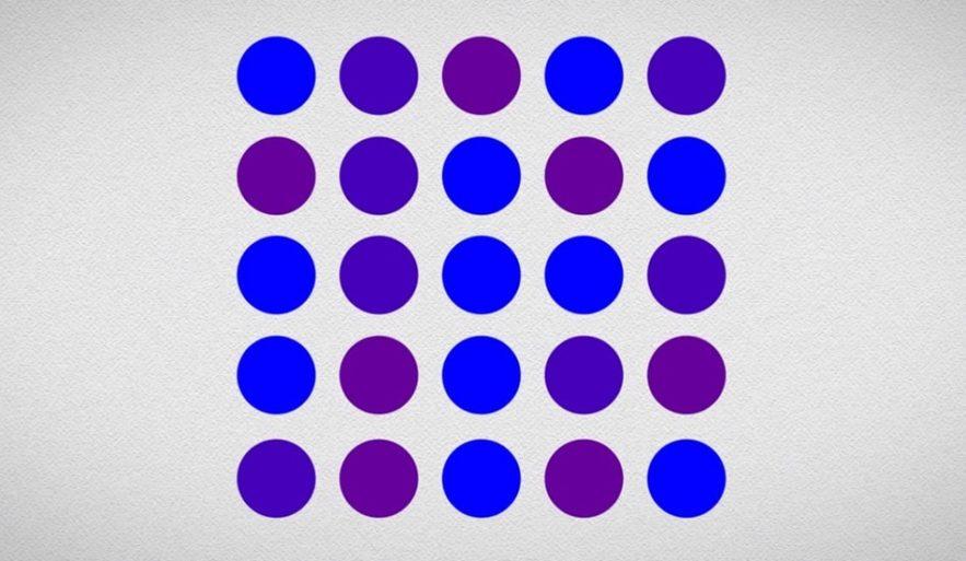 ronds violets bleus concept idee prejuges