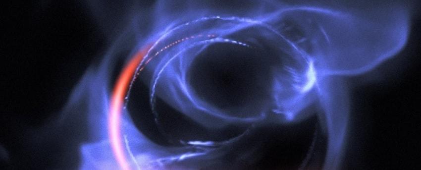 simulation trou noir sagittariusa