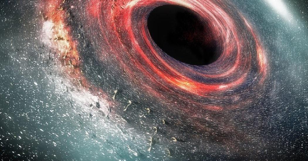 trou noir rotation espace