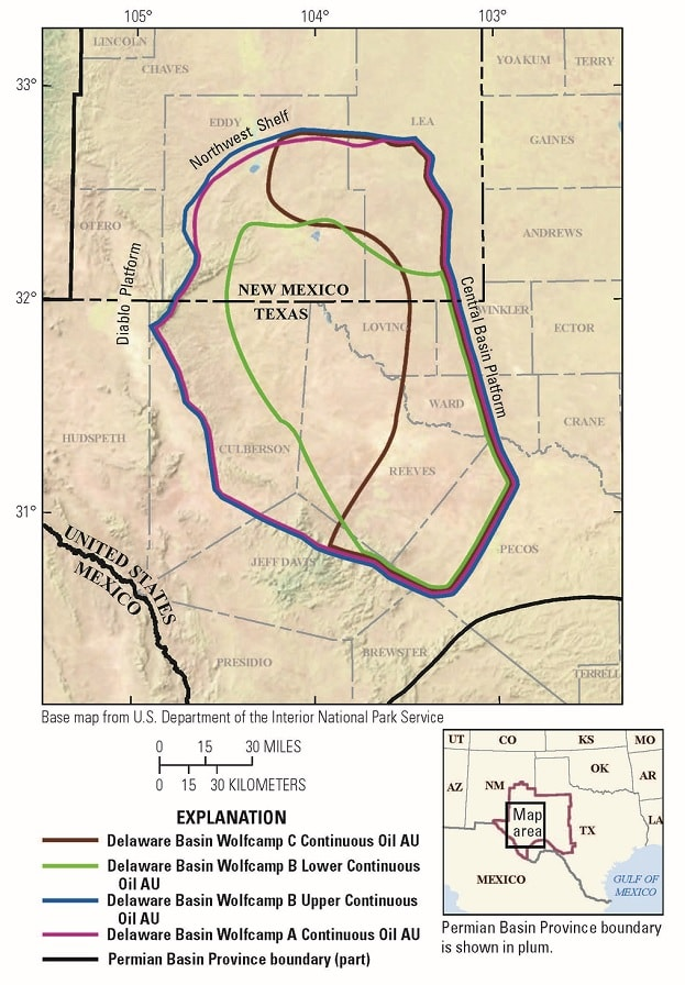 carte evaluation bassin delaware partie2