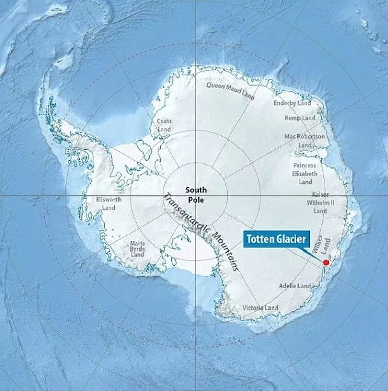 carte glacier totten
