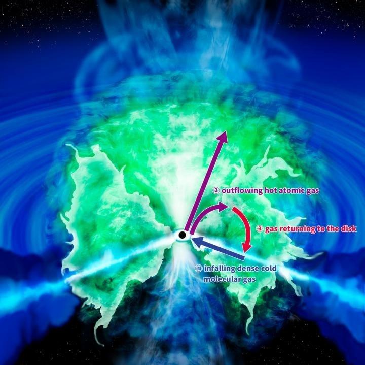 composantes gazeuses trou noir