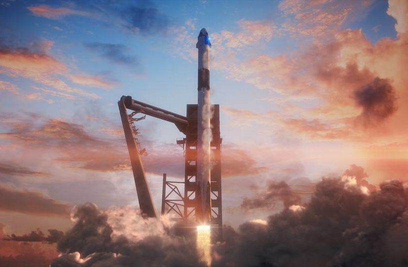nasa SpaceX falcon9 crewdragon