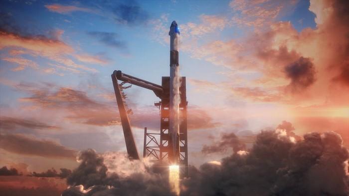 Les images impressionnantes du lancement réussi de la nouvelle capsule de SpaceX