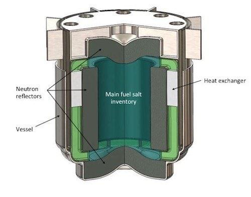 dessin reacteur nucleaire a chlorure fondu terrapower