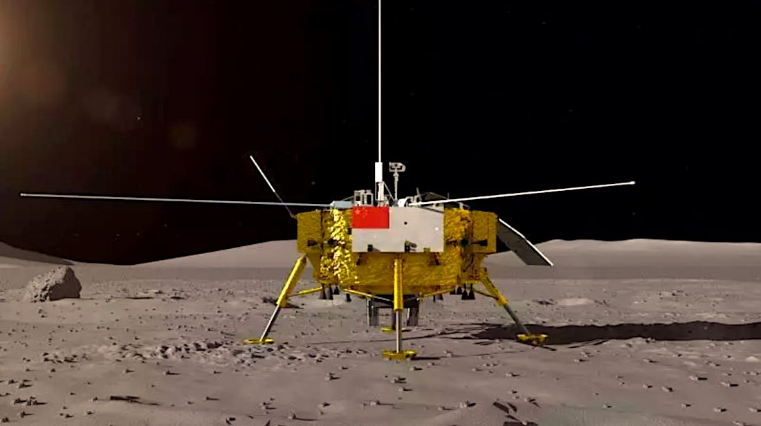 change 4 atterrisseur rover face cachee lune