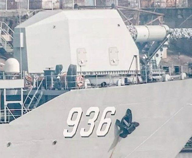 navire guerre chinois chine railgun canon monte bateau flotte navale canon electrique puissance electromagnetique