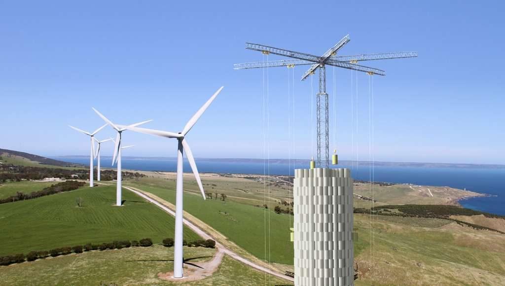 energy vault parc eolien implementation
