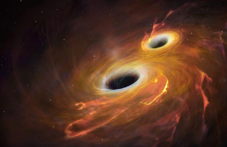 fusion trous noirs entropie