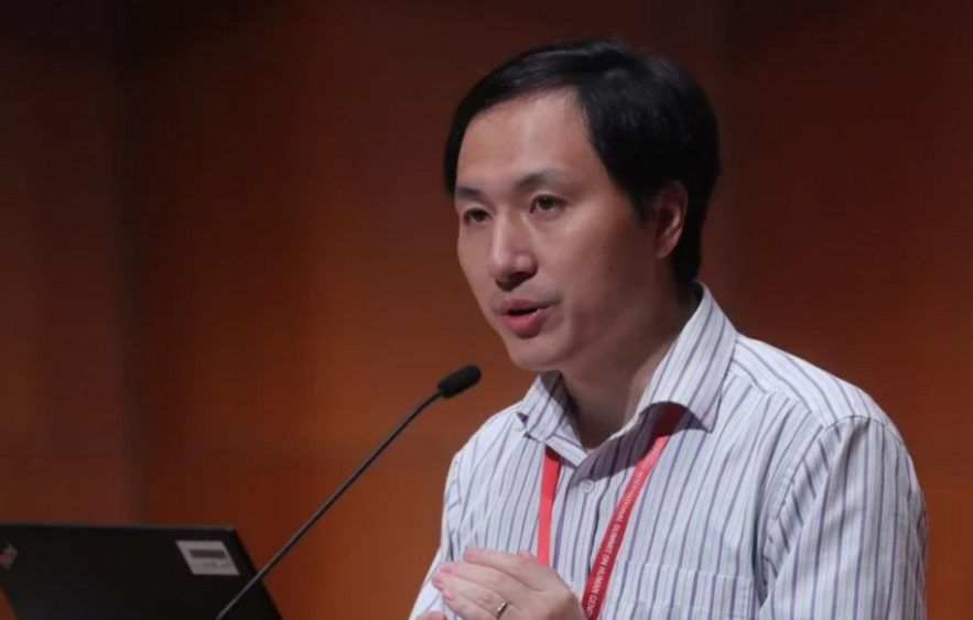 he jiankui chercheur scientifique embryons modification genetique bebe crispr-cas9