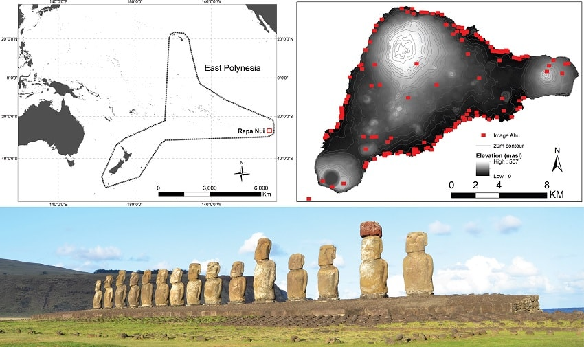 ile paques ahu moai