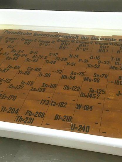 tableau periodique plus ancien lavage