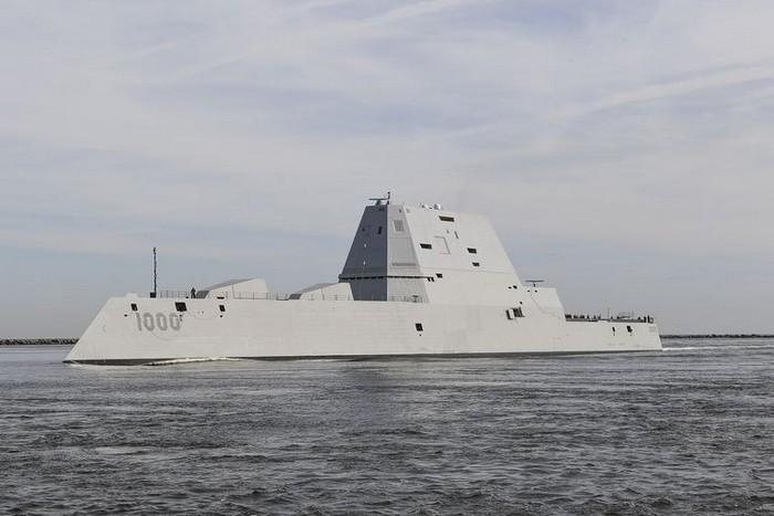 uss zumwalt navire guerre chinois chine railgun canon monte bateau flotte navale canon electrique puissance electromagnetique